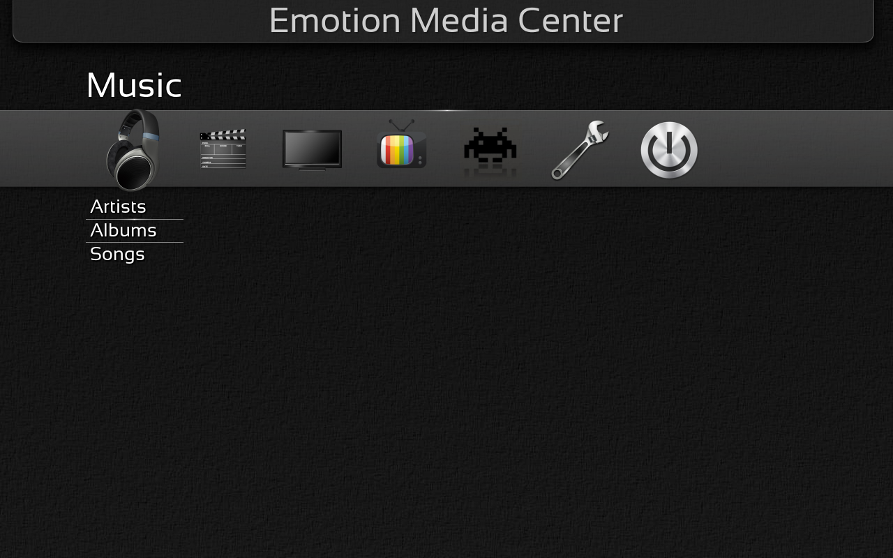 The epymc media center on openSUSE Leap 42.1