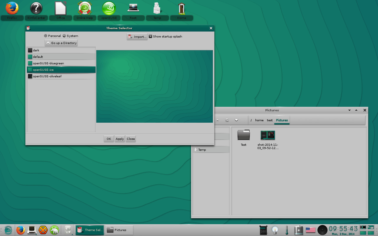 openSUSE 13.2 with Ice theme