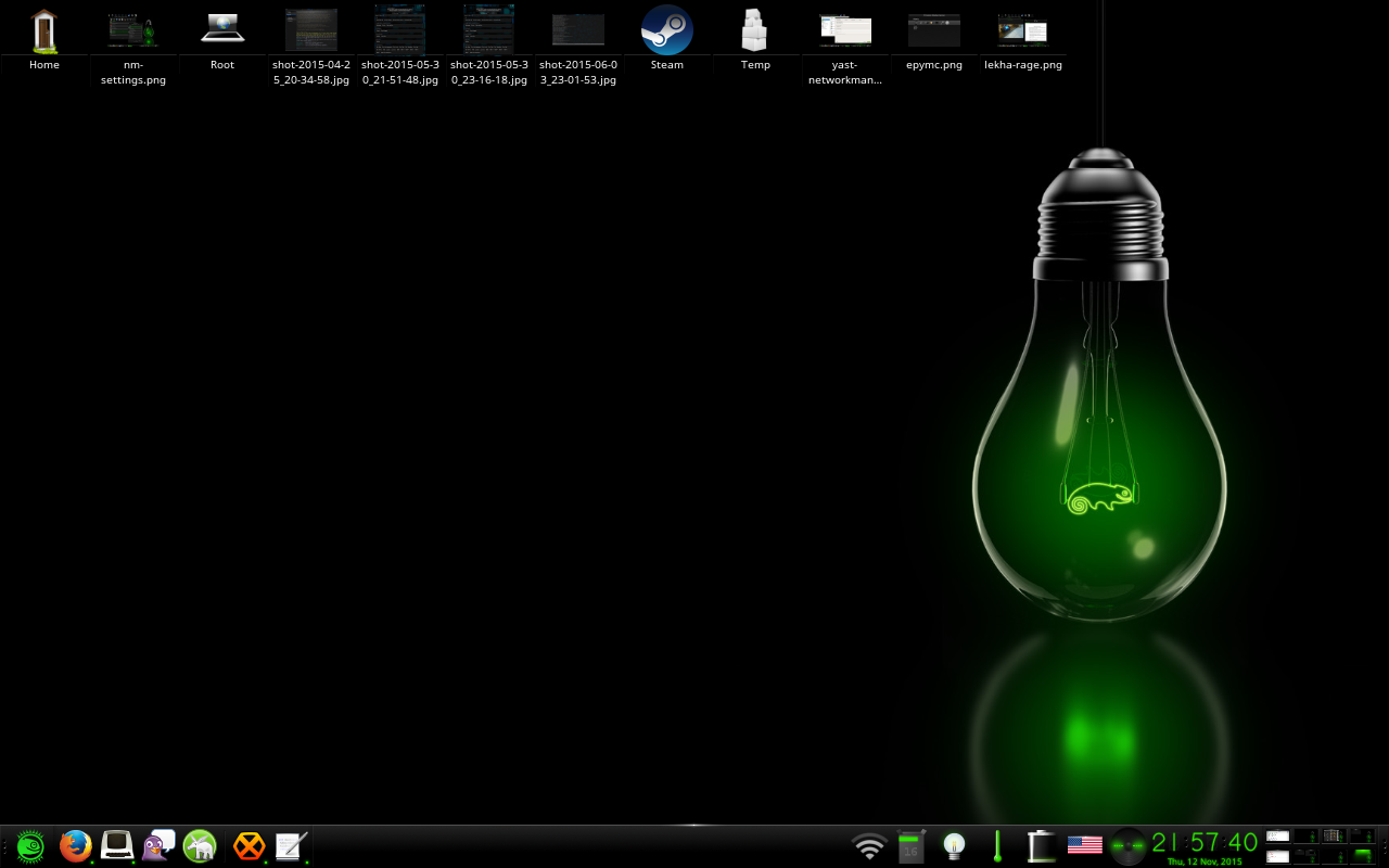 openSUSE Classical theme on openSUSE Leap 42.1